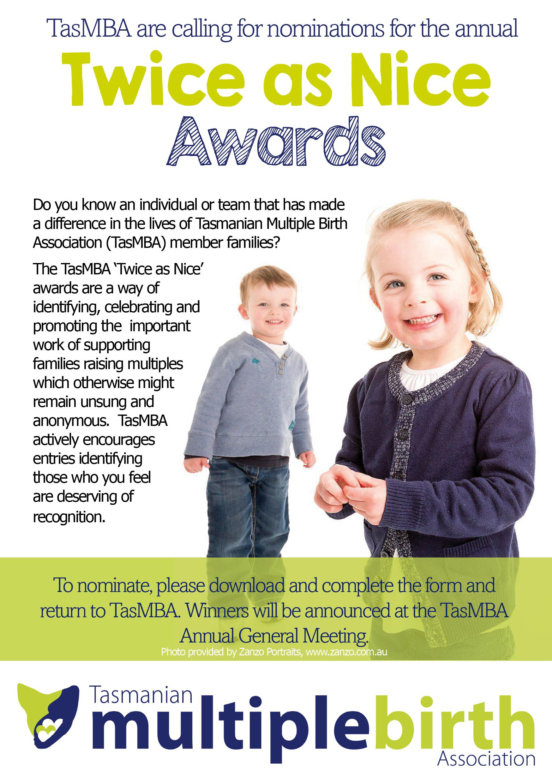 Tasmanian Multiple Birth Association: Twice as Nice Awards
